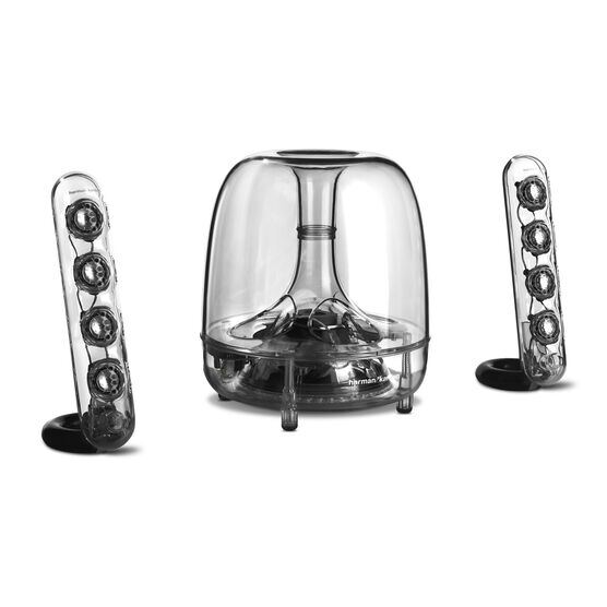 SoundSticks Wireless - Clear - Three-piece wireless speaker system with Bluetooth - Detailshot 1