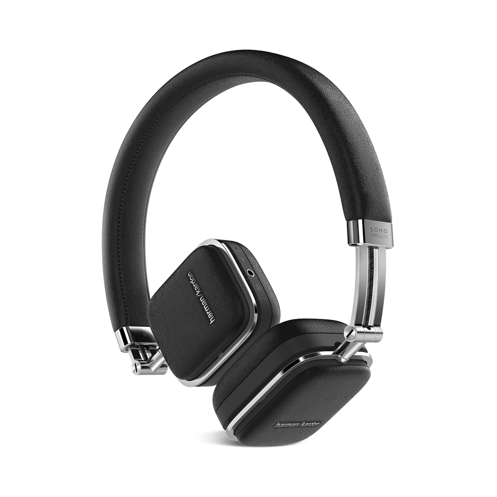 Soho Wireless - Black - Premium, on-ear headset with simplified Bluetooth® connectivity. - Hero